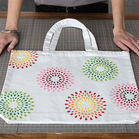 Make your own cotton tote bag or dress up a plain tote bag with a handmade stencil and some colourful acrylic craft paints