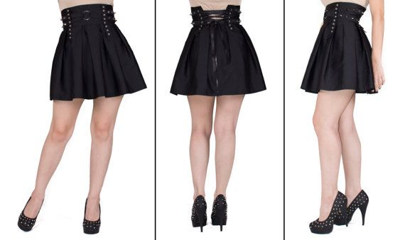 Give a rock & roll touch to your look with this Black spiked skater skirt. You can wear it with our Spiked Crop Top or with you favorite shirt and a leather vest. Use coupon code: PINTEREST to get yours with 10% discount TODAY!