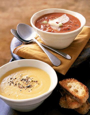 Roasted Garlic Soup Fire-Roasted Tomato Soup