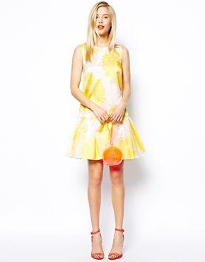 ASOS SALON Floral Dress With Peplum Dress // 25% off
