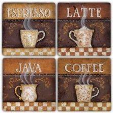 BA271-COFFEE TIME DOĞALTAŞ BARDAK ALTLIĞI