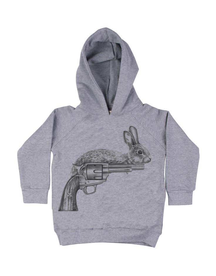 SOFT GALLERY  Boys Grey 'Gunny' Hooded Sweatshirt