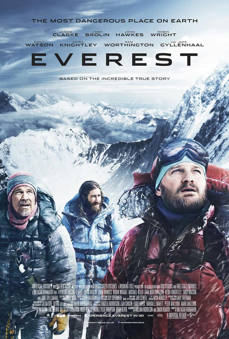 EVEREST (Sept. 2015; 3D): Based on the true events of the 1996 Mt Everest disaster. With Jake Gyllenhaal, Keira Knightley. Trailer here: http://www.imdb.com/title/tt2719848/