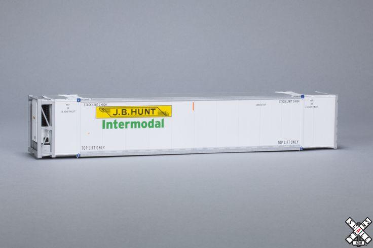 HO CIMC 53' Reefer Container, JB Hunt ScaleTrains.com