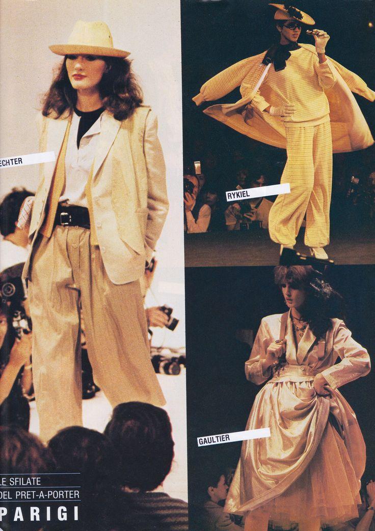 https://flic.kr/p/RQbjtd | Ready to Wear Spring/Summer 1982 | Daniel Hechter, Sonia Rykel and Jean-Paul Gaultier