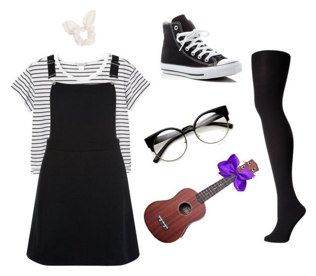 """Dodie Clark Inspired Look"" by mikyla-goodlet on Polyvore featuring Monki, New Look, Falke, Converse and Dorothy Perkins"