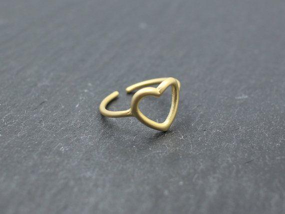 Heart  ringpipe ringsheart pipe ringsmatt gold ringsEaster by MYLB