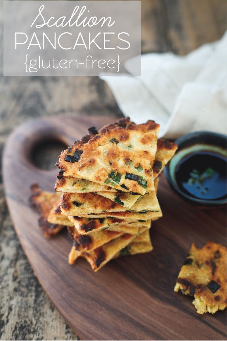 Gluten-free scallion pancakes - incredibly crispy with a slightly chewy bite. #glutenfree