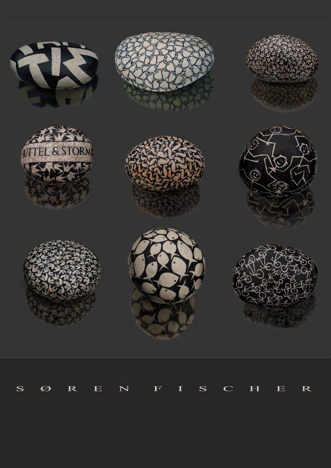 Decorated stones - I like!