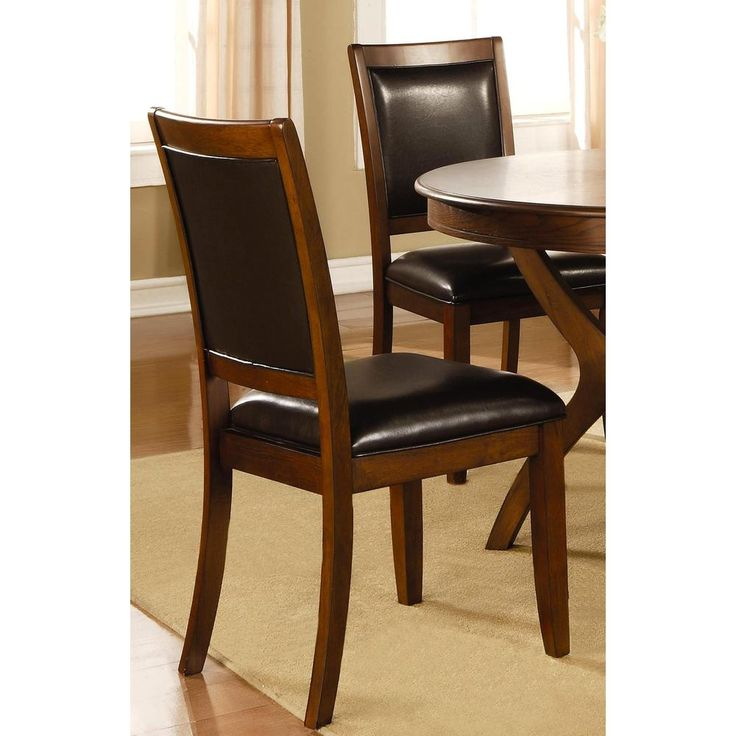 Montery Casual Deep Brown Upholstered Dining Chairs (Set of 2)