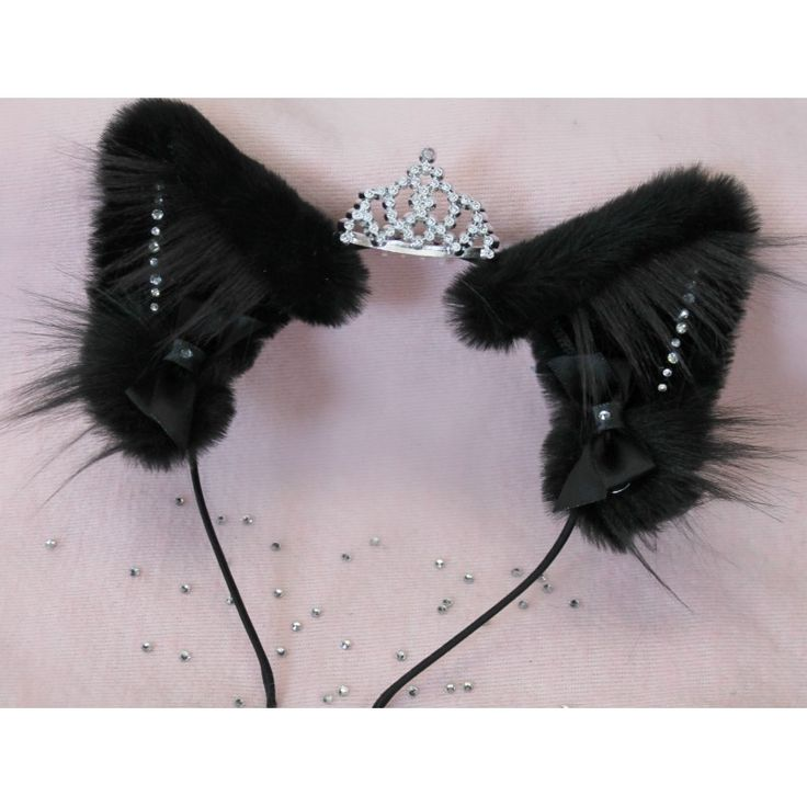 Diamond Kitten Ears (Black/Realistic Cat) from Kitten's Playpen. I don't have these, but they are so cute!