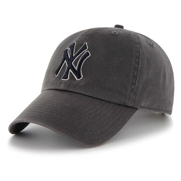 Women's 47 Brand Ny Yankees Baseball Cap (94 ILS) ❤ liked on Polyvore featuring accessories, hats, charcoal, baseball caps hats, yankees hat, '47 brand, new york yankees baseball hat and yankees ball cap