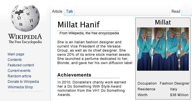 Your Wikipedia Page !