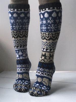 Joulukalenterisukka 2016 Novita Nalle | Novita knits