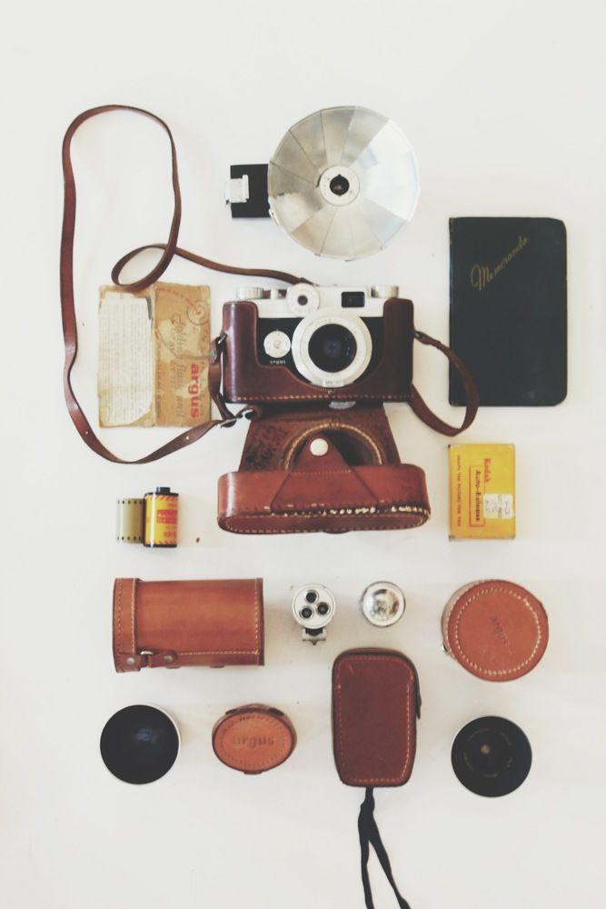 Argus C-44 1956 35mm film camera kit