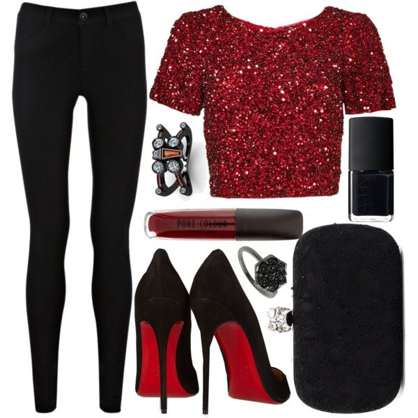 A fashion look from January 2016 by sisaez featuring Parker, Oasis, Christian Louboutin, Alexander McQueen, Kendra Scott, NARS Cosmetics, women's clothing, wome...