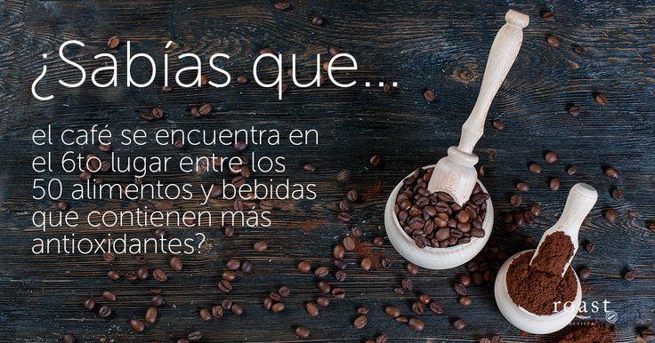¿Sabías que... el café se encuentra en el 6to lugar entre los 50 alimentos y bebidas que contienen más antioxidantes?