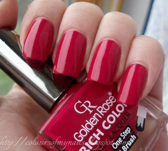 Colours of my nails: Golden Rose Rich Color 21