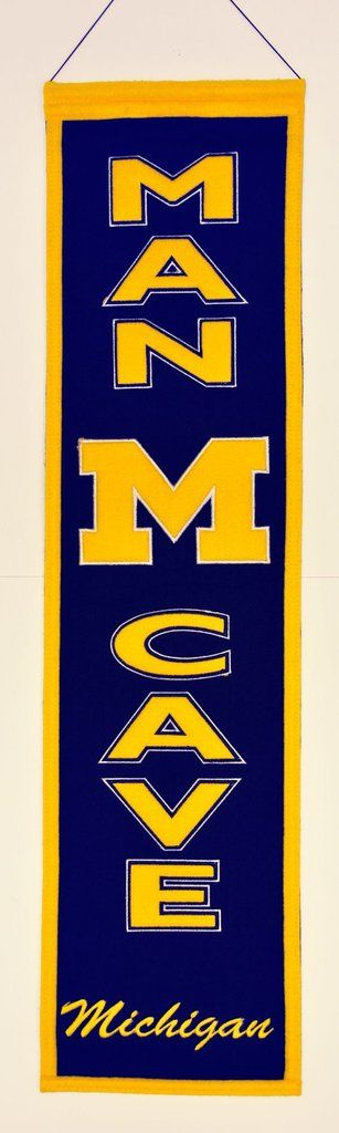 Michigan Wolverines Banner Wool Man Cave