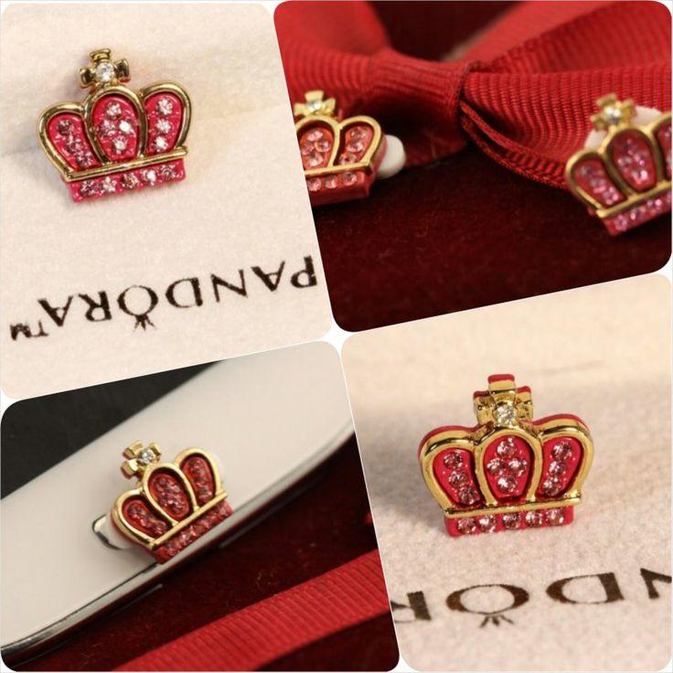 Red Golden Crown Home Button Samsung