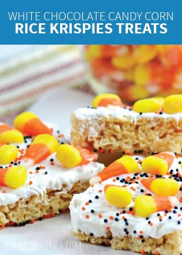 On pinterest rice krispies treats rice krispies and candy corn