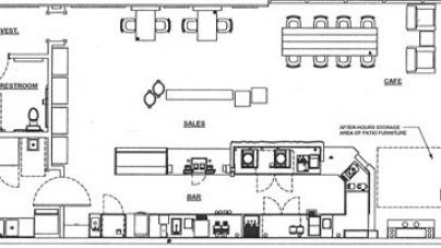 The proposed floor plan for the Starbucks Coffee that may set up shop on First Street. Source: Starbucks application to City of Napa.