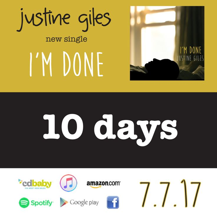 10 DAYS! Let the countdown to my new single #ImDone begin! Recorded in Toronto, produced by the amazingly talented @billbell11 ✨🤘by far my favourite song I've ever written. Can't wait for the world to hear it! 7.7.17