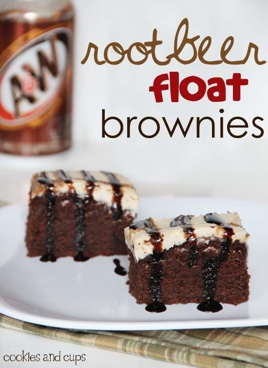 root beer float brownies. Those words in that combination just sound delish don't they?!