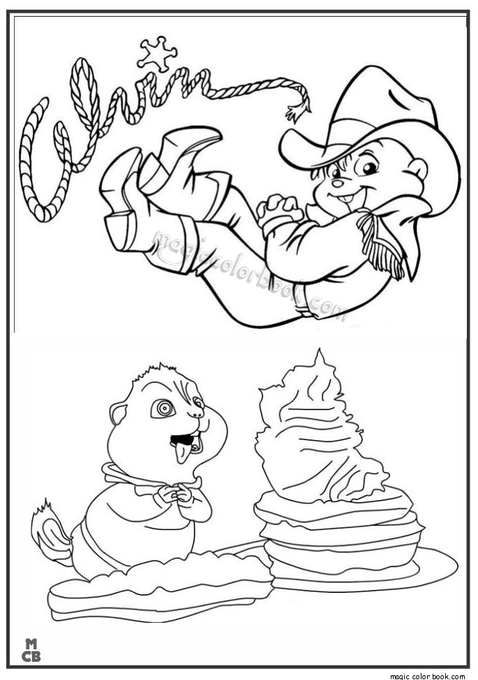 alvin and the chipmunks coloring pages buffalo cowboys squirrels colouring pages printable coloring pages coloring books