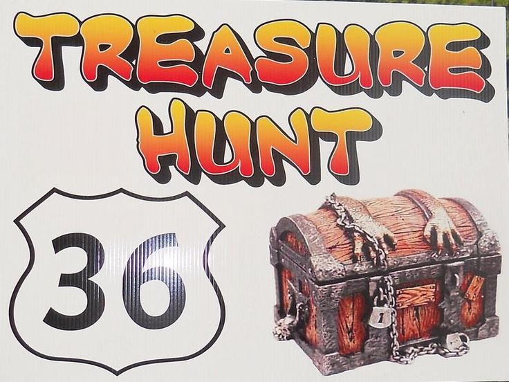 Kansas Highway 36 treasure hunt held yearly in Sept. Runs