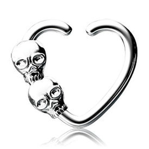 16G SKULL Seamless Ring Stainless Steel Cartilage Daith Tragus piercing jewelry #Unbranded