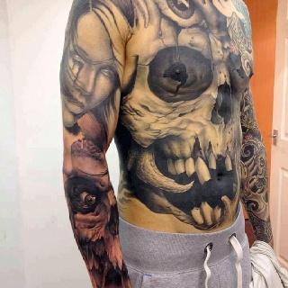 .ink...John Anderton, 3D Tattoo, Skull Tattoo, Fashion Style, Tattoo Artists, Portraits Tattoo, Body Art, Bodyart, Ink