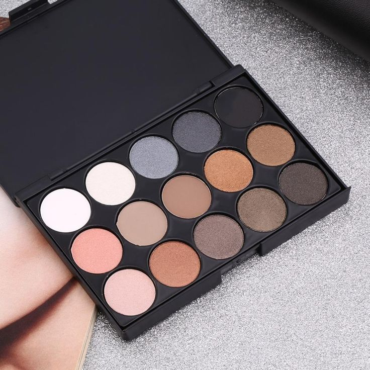 High Quality 15 Colors Matte Shimmer Eyeshadow Palette Makeup Cosmetic