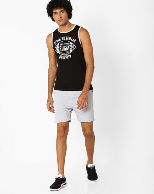 Deal on Sleeveless T-shirt – Rugby Print Summer Special (40% off)