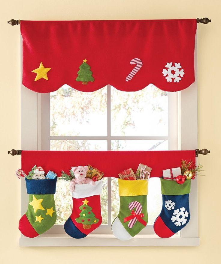 Adorables diseños de cortinas para Navidad