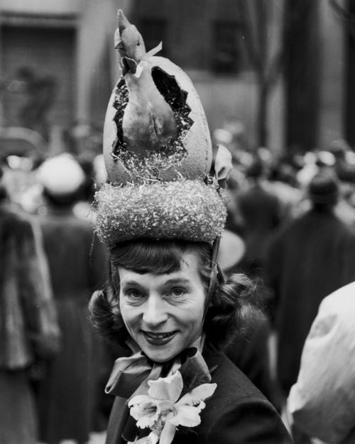 5th Avenue Easter Parade Hat c.1940   I'm thinking of a hat this year buuut probably not like this one! lol