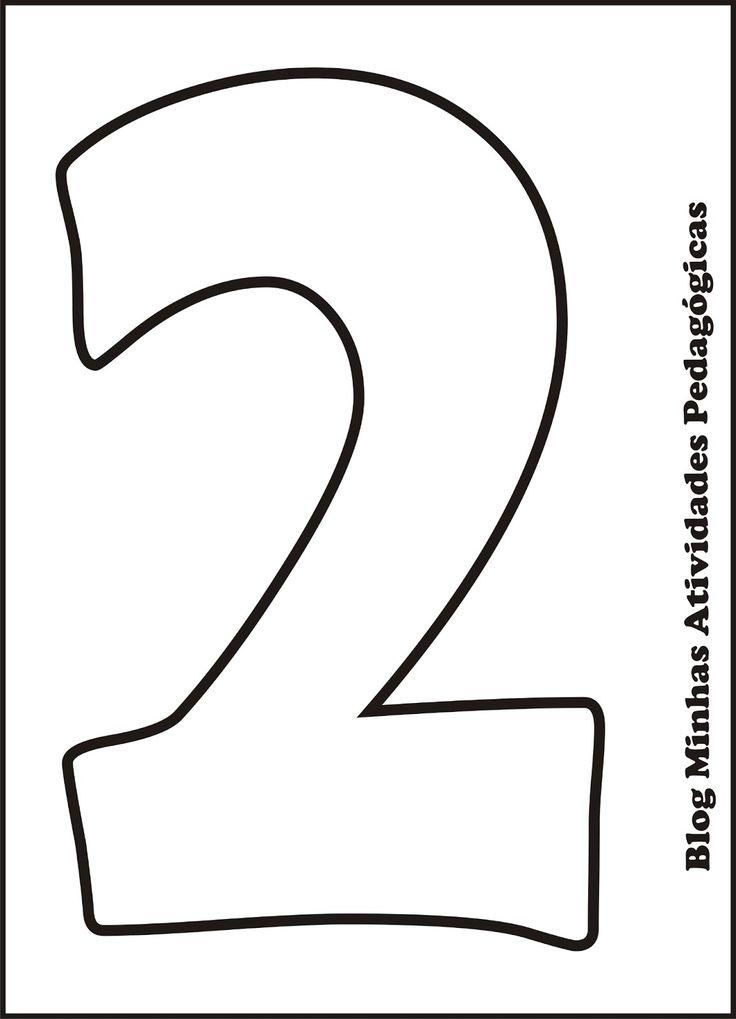 moldes de numeros para imprimir 4 | numeros | Pinterest | Numbers ...
