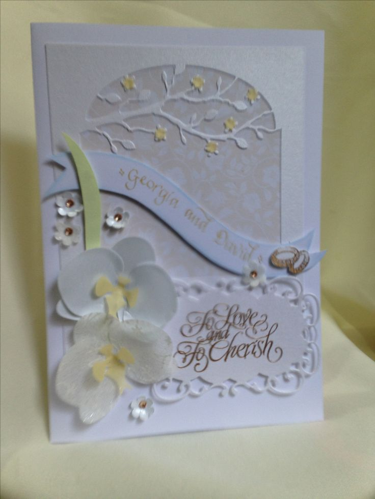 Card for a garden wedding