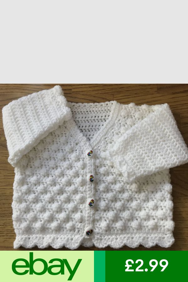 1029 PDF by Email Baby Crochet Pattern for a Bobble Cardigan in DK