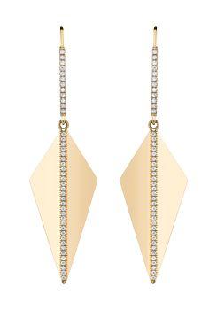 Neil Lane diamond and 18k gold earrings