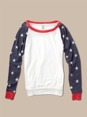 Alternative Apparel Printed Slouchy Pullover : Women