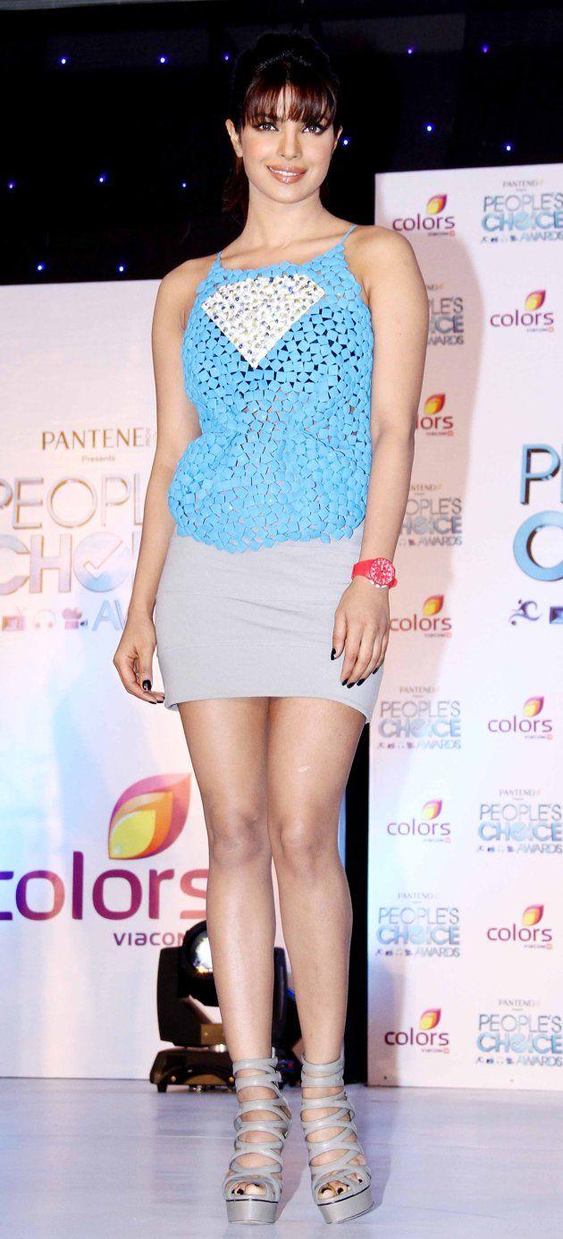 bollywood hot girl short beige skirt and girly