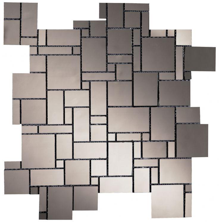 Dune Enigma mosaic, geometric shape with mirror effect.