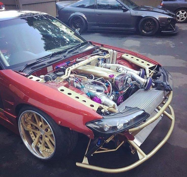 #Nissan #Silvia #S15 #Slammed #Stance #Modified #JDM #Engine_Bays