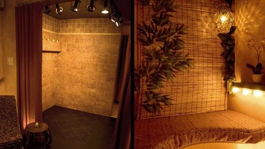 @Trish McMonigle Harrold, #airbrush, #tan, tiled space for custom airbrush tanning/spa area.