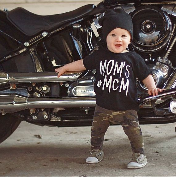 Every little man needs a #MCM shirt!!!  PLEASE NOTE: This shirt is made to have imperfections/ distressed look as in the close up picture. CUSTOM