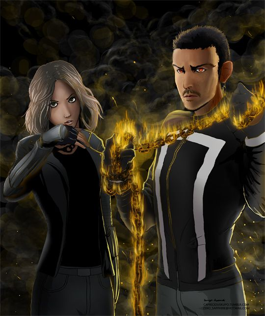 Agents of S.H.I.E.L.D. and Quakerider — Daisy Johnson and Robbie Reyes looking awesome...