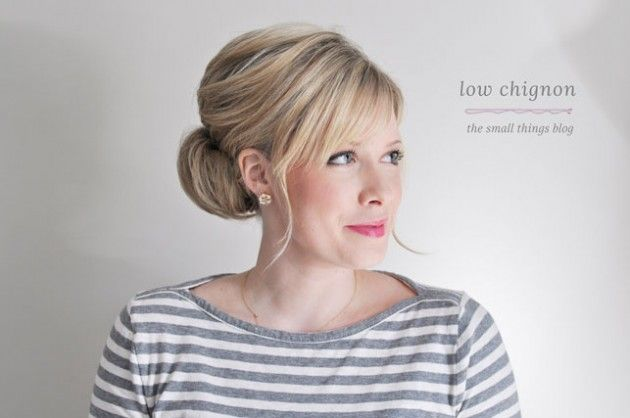 Low Chignon Hair Tutorial.... this whole style took 6 minutes? maybe I can actually manage this?
