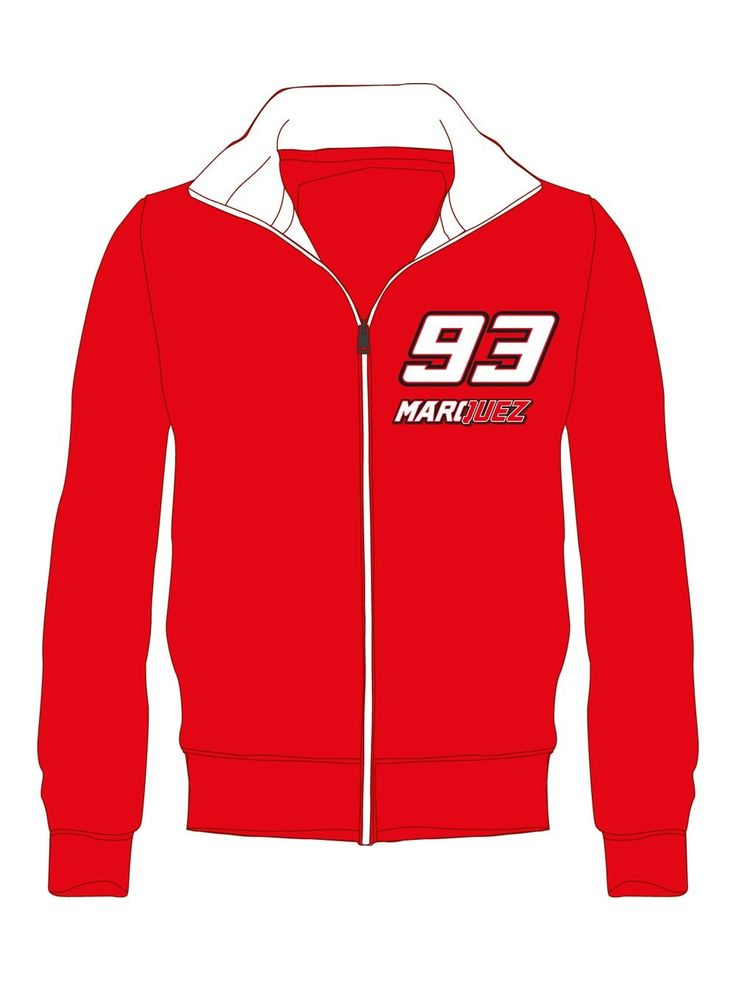 Children's hoodless sweatshirt with an elegant and modern look, inspired by the Marc Marquez style.