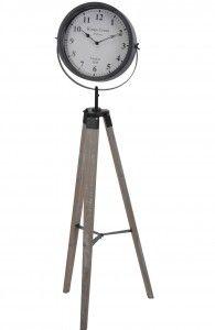 Zegar stojący drewniany trójnóg